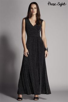 Phase Eight Black Bulah Sparkle Maxi Dress