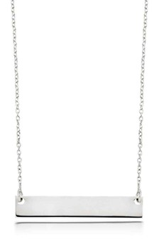 Beaverbrooks Silver Bar Necklace
