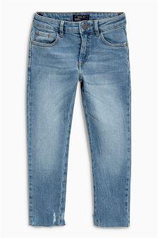 Fray Hem Skinny Jeans (3-16yrs)