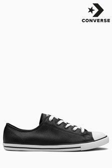 Converse Black Chuck Taylor All Star Leather Dainty Ox