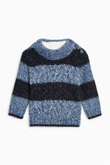 Button High Neck Jumper (3mths-6yrs)