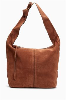 Leather Large Hobo Bag