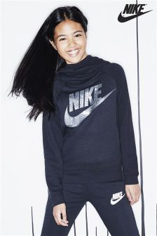 Nike Black Foil Logo Overhead Hoody