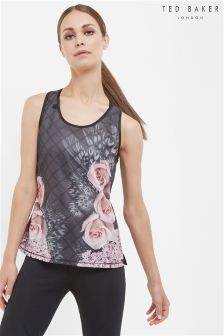 Ted Baker Black And Pink Butterfly Racer Vest