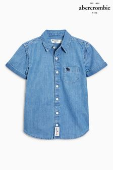 Abercrombie & Fitch Denim Short Sleeve Shirt