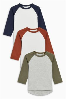 Raglan T-Shirts Three Pack (3mths-6yrs)