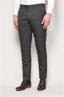 Check Skinny Fit Suit Trousers