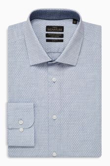 Signature Circle Pattern Slim Fit Shirt