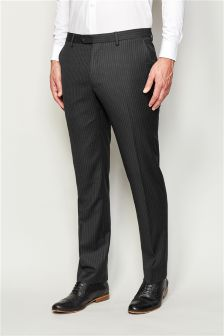 Stripe Tailored Fit Suit Trousers