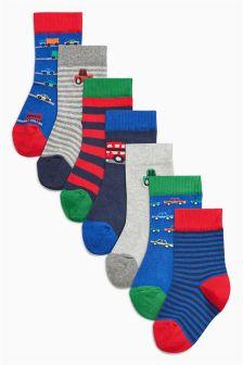 Transport Socks Seven Pack (Younger Boys)