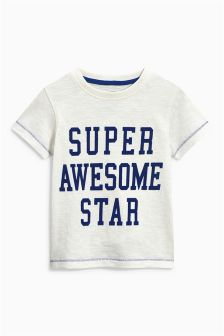 Short Sleeve Slogan T-Shirt (3mths-6yrs)