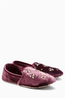 Embellished Slippers