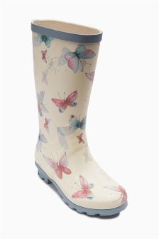Butterfly Wellington Boots (Older Girls)