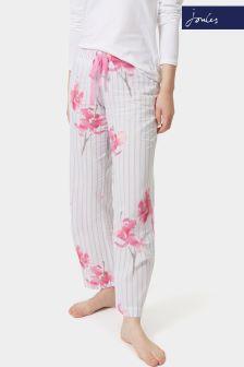 Joules White Orchid Stripe Caroll Pyjama Bottom