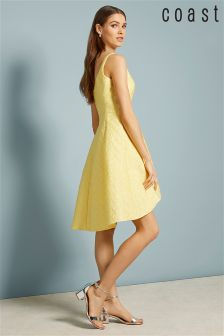 Coast Yellow Gracina Daisy Jacquard Dress