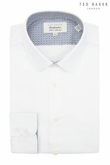 Ted Baker White Penny Collar Formal Shirt