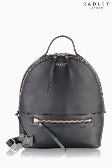Radley Black Northcote Road Medium Zip Top Backpack
