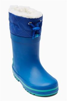Fleece Lined Wellies (Younger Boys)