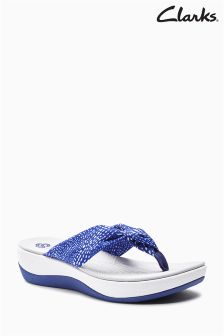 Clarks Navy Cloudstepper Toe Thong