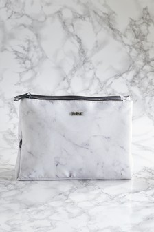 Marble Effect Folding Cosmetic Bag