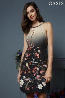 Oasis Multi Osaka Embellished Drape Shift Dress