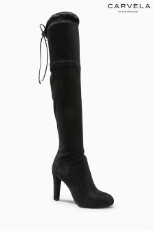 Carvela Sammy Black Suedette Over the Knee Boot
