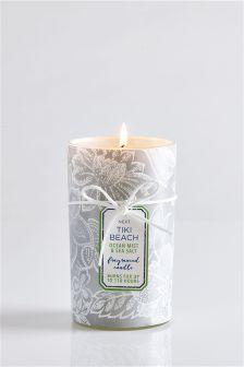 Ocean Mist And Sea Salt Fragranced Pillar Candle