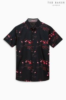 Ted Baker Navy Flamingo Print T-Shirt