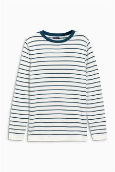 Stripe Crew Neck Jumper (3-16yrs)