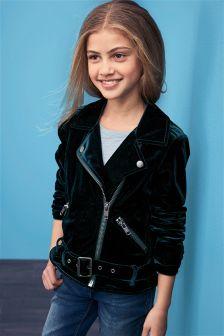 Velvet Biker Jacket (3-16yrs)