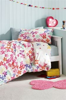 Two Pack Watercolour Butterfly Printed Bed Set