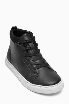 Clean Lace-Up Boots (Older Boys)