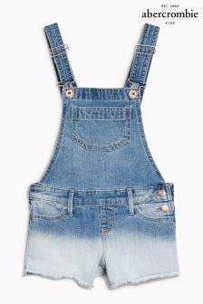 Abercrombie & Fitch Dip Dye Denim Short Dungaree