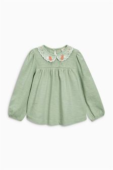 Embroidered Collar Blouse (3mths-6yrs)