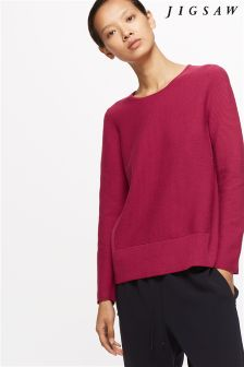 Jigsaw Bright Rose Knitted Sweat