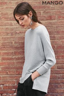 Mango Grey Longline Knit
