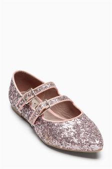 Double Strap Pointed Shoes (Older Girls)