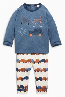 Embellished Car Two Piece Set (0mths-2yrs)