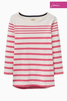 Joules Rose Hip Stripe Jersey Top