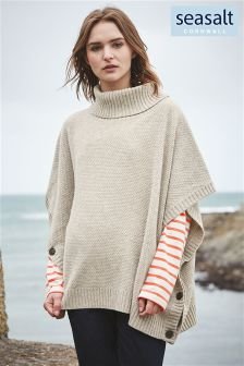 Seasalt Grey Bozands Poncho