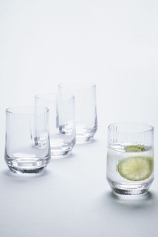 Set Of 4 Optic Rib Tumblers