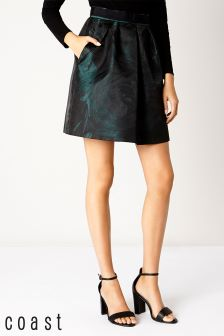 Coast Black/Green Robyn Jacquard Skirt
