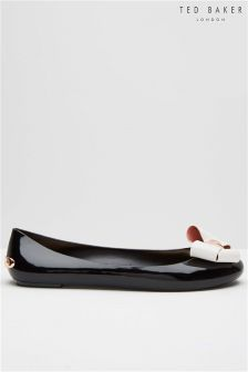 Ted Baker Black Contrast Bow Pump