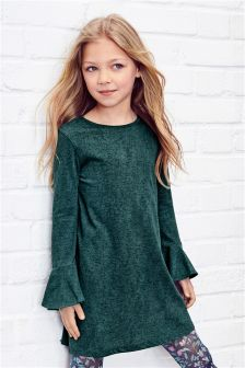 Trumpet Sleeve Dress (3-16yrs)