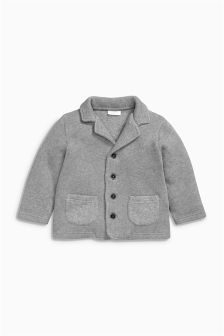 Grey Knit Look Jacket (0mths-2yrs)