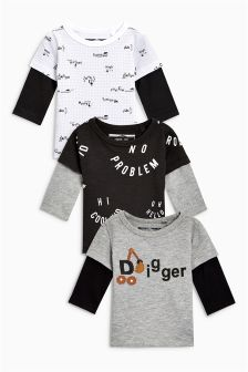 Digger T-Shirts Three Pack (3mths-6yrs)