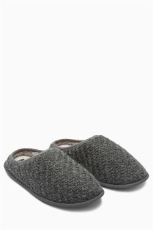 Textured Knitted Mule