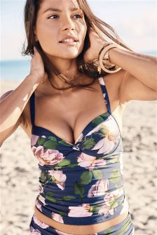 Floral Shape Enhancing Tankini Top