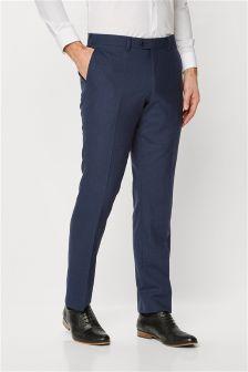Signature Textured Windowpane Slim Fit Suit: Trousers