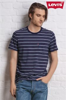 Levi's® Blue/Navy Stripe Pocket T-Shirt